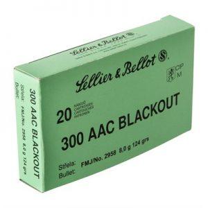 Sellier & Bellot 300 AAC Blackout 124GR FMJ Ammunition