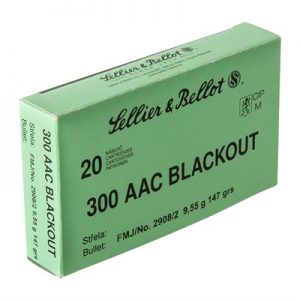 Sellier & Bellot 300 AAC Blackout 147gr FMJ Ammo