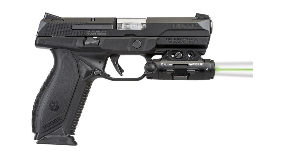 Viridian X5L Gen 3 Universal Green Laser Tactical Light with HD Weapon-Mounted Digital Camera