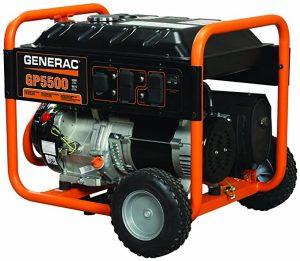 Generac 5939 GP5500 5500 Running Watts 6875 Starting Watts Gas Powered Generator