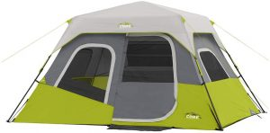 Core 6-Person Instant Cabin Tent with Wall Organizer