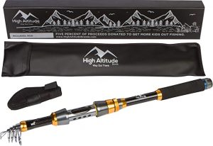 High Altitude Brands Lightweight Portable Telescopic Fishing Kit