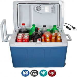 K-box Electric Cooler and Warmer with Wheels for Car and Home - 48 Quart