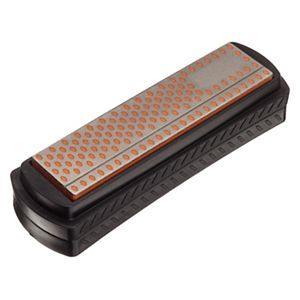 """Smith's 4"""" Diamond Sharpening Stone with Cover"""